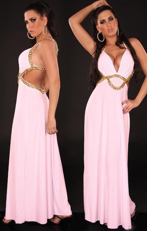 6d5678842b44 Večerné šaty so zdobením Pink – Sissy Boutique