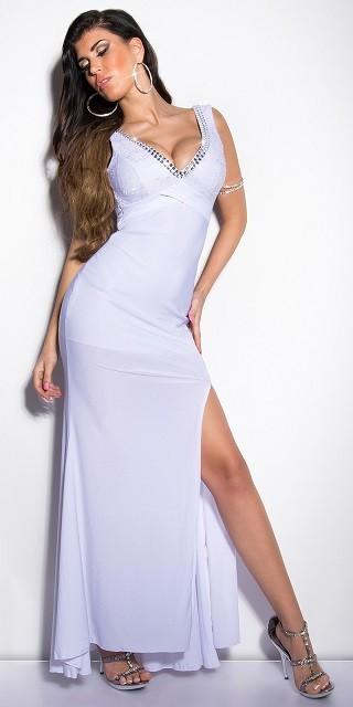 efa2268c8ffd Dlhé spoločenské šaty so zdobením White – Sissy Boutique