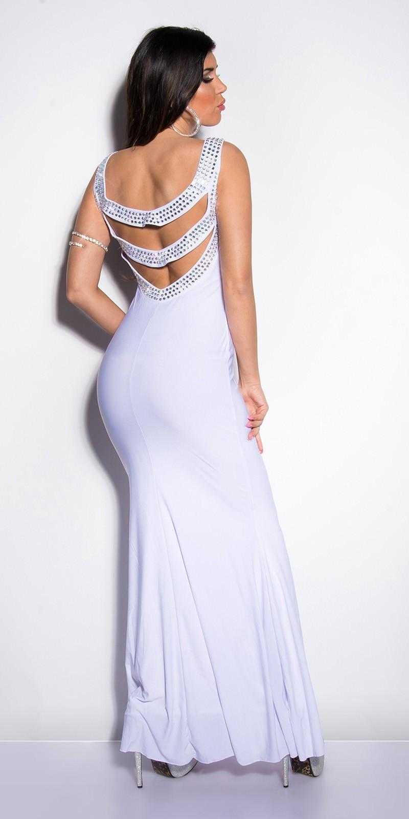 a339c24d5adb Spoločenské šaty s kamienkami White – Sissy Boutique