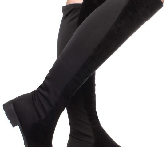 Čižmy nad kolená Black Suede cd27a25ec01