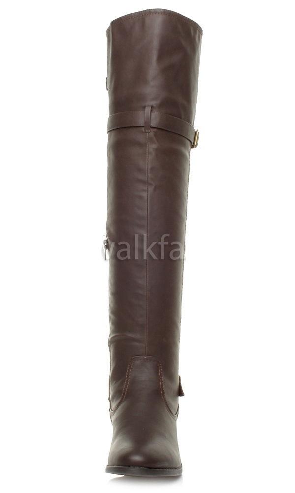 a98921608 Zimné čižmy nad kolená Brown – Sissy Boutique
