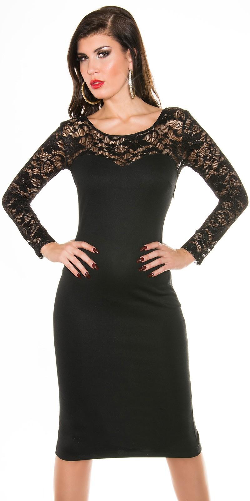 246b6a9103cb Šaty kombinované čipkou Black – Sissy Boutique