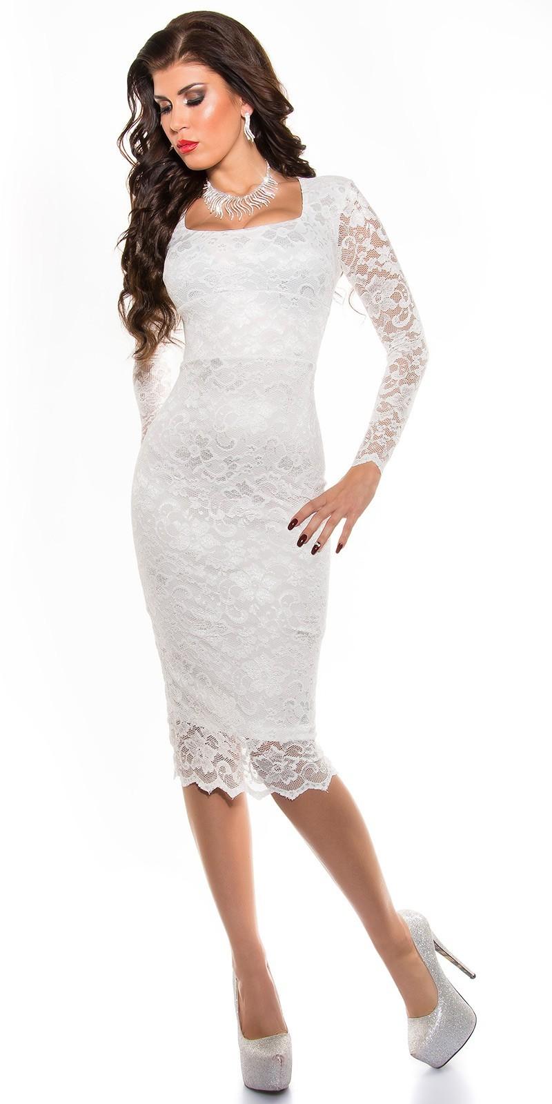 2d4c1d973a52 Spoločenské šaty pod kolená White – Sissy Boutique