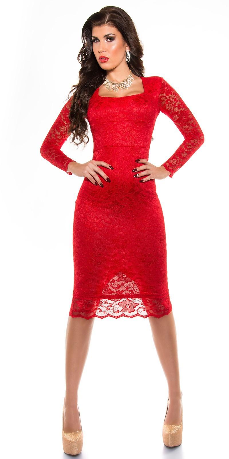 ee5e620c9b67 Spoločenské šaty pod kolená Red – Sissy Boutique