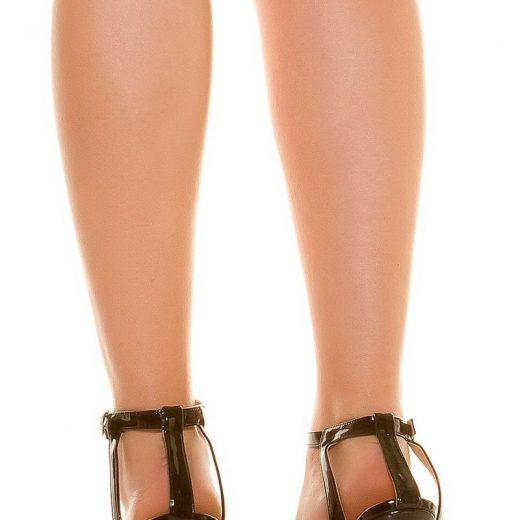 a576da8d1f07 Sandálky na podpätku Black