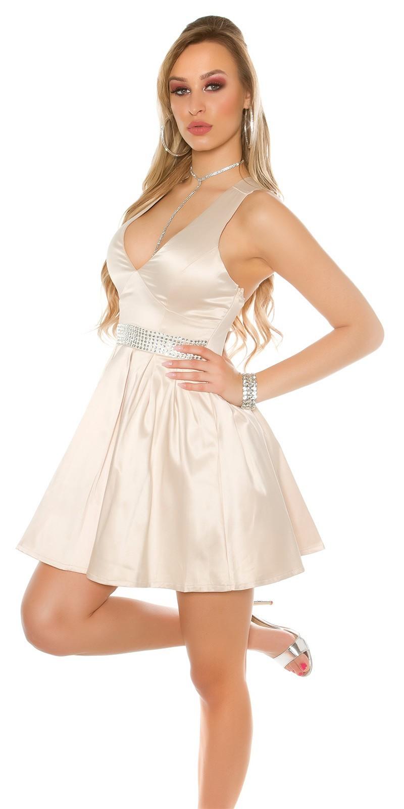 ee6a35ede68f Saténové šaty Beige – Sissy Boutique