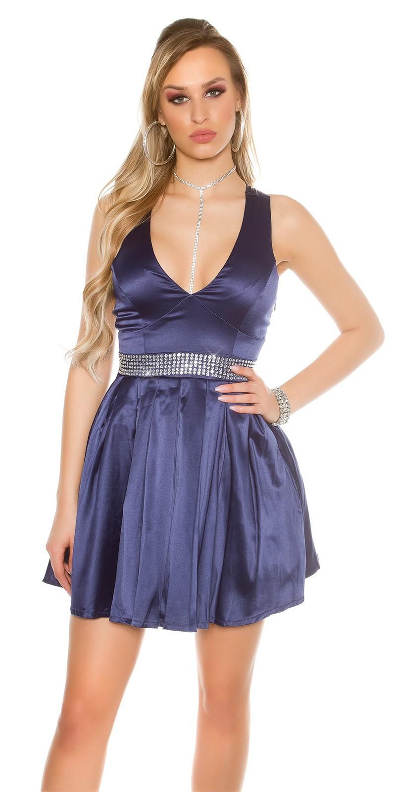 Saténové šaty Navy – Sissy Boutique b1307087f00