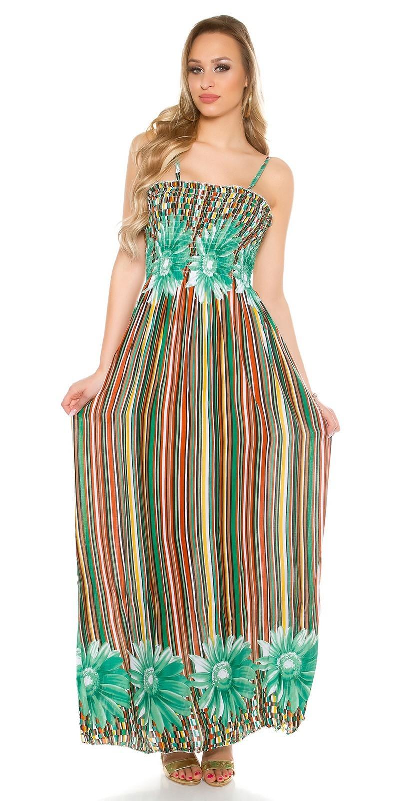 59490c91d7c0 Dlhé letné šaty na ramienka Green – Sissy Boutique