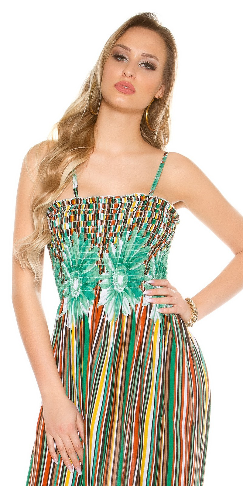 08db3f17aee4 Dlhé letné šaty na ramienka Green – Sissy Boutique