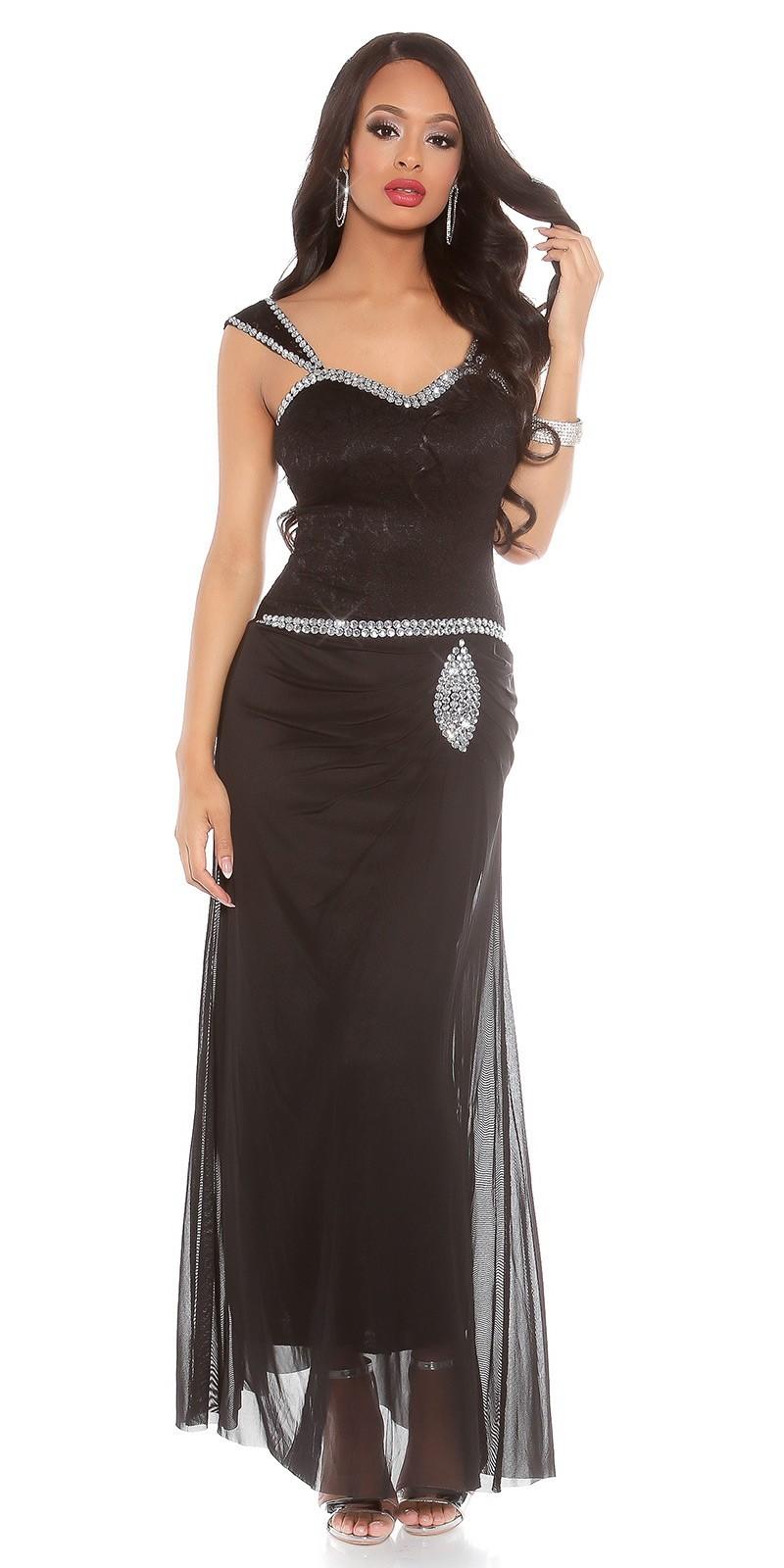 8e6b26a4dad9 Spoločenské šaty zdobené kamienkami Black – Sissy Boutique