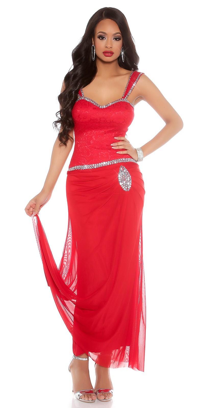 3439d94312 Spoločenské šaty zdobené kamienkami Red – Sissy Boutique