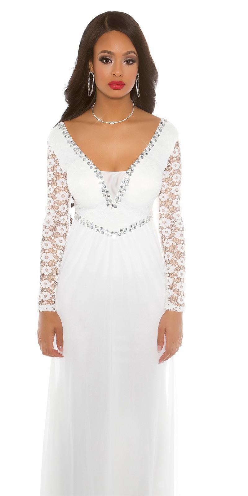 8ba969f69801 Spoločenské šaty dlhý rukáv White – Sissy Boutique