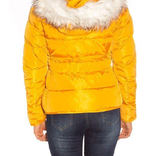 Zimná bunda s kožušinou Mustard 95f62b9cb1c