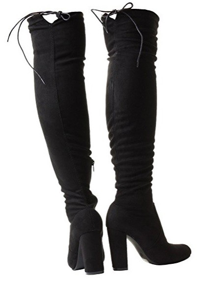 Čižmy nad kolená na hrubom podpätku – Sissy Boutique 5d682e43c22