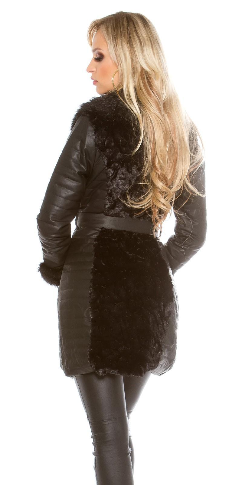 5caffc24b32f Kožený kabát s kožušinou – Sissy Boutique