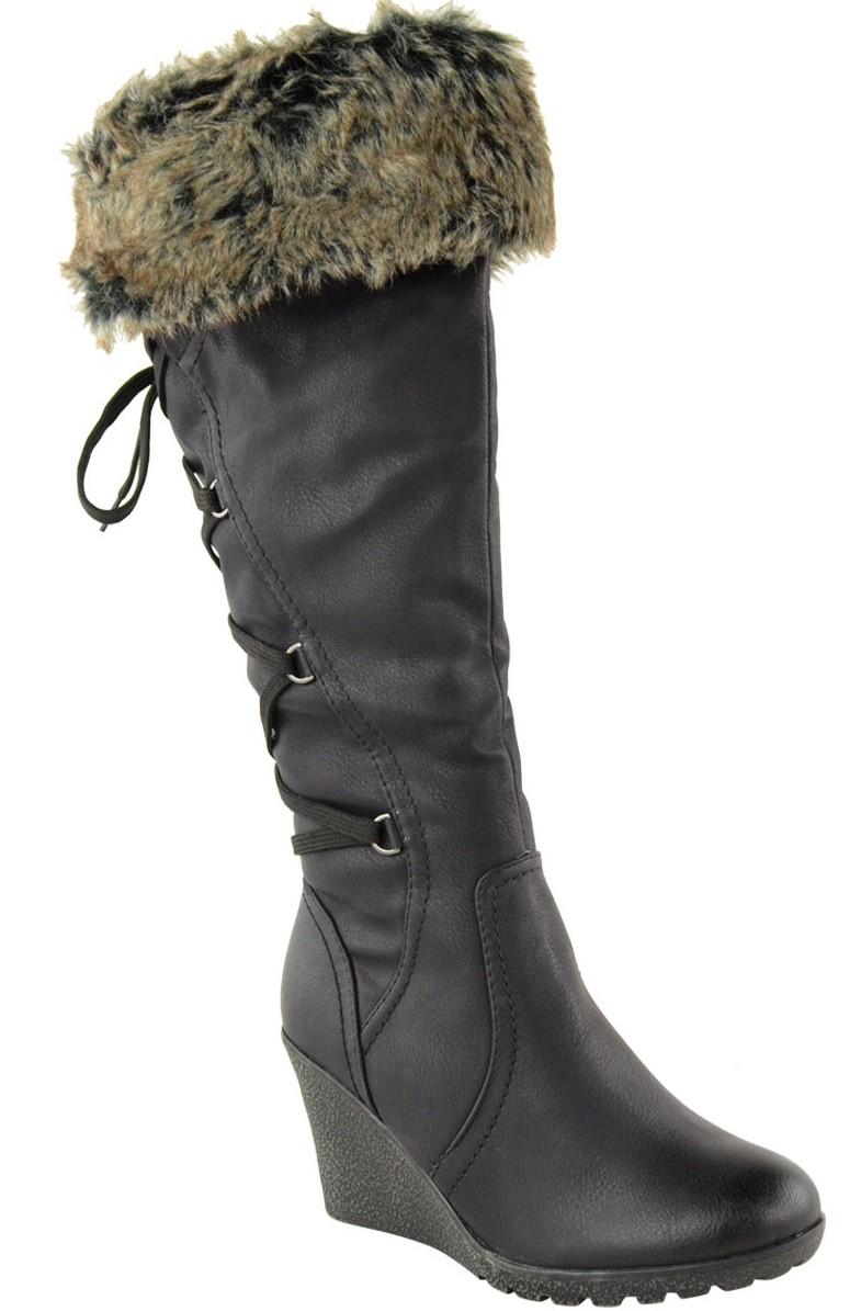 0e2a1b73122f Zimné čižmy na plnej platforme Black – Sissy Boutique