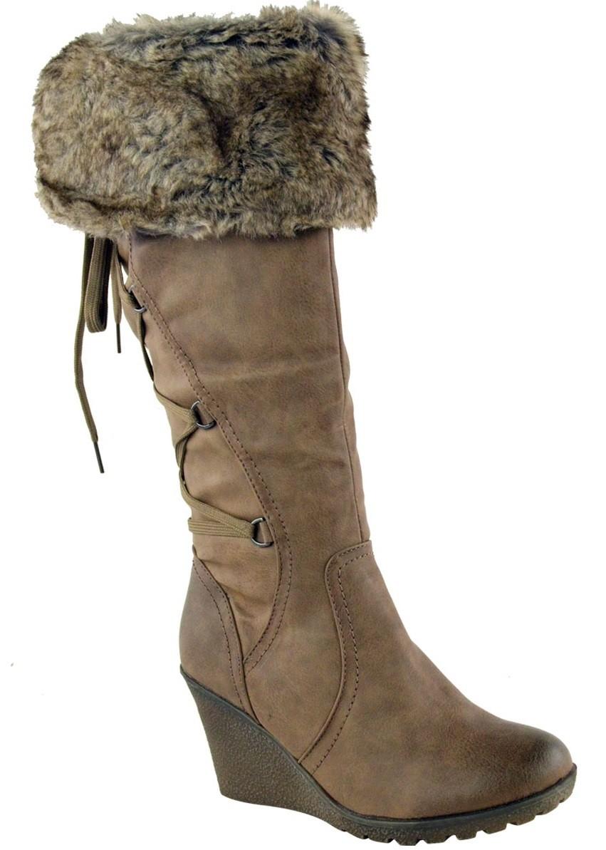d70a61530c43 Zimné čižmy na plnej platforme Khaki – Sissy Boutique