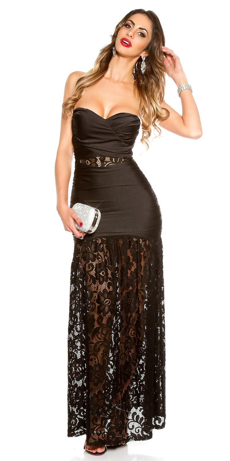 0eecb3687657 Dlhé šaty s čipkou KouCla Black – Sissy Boutique