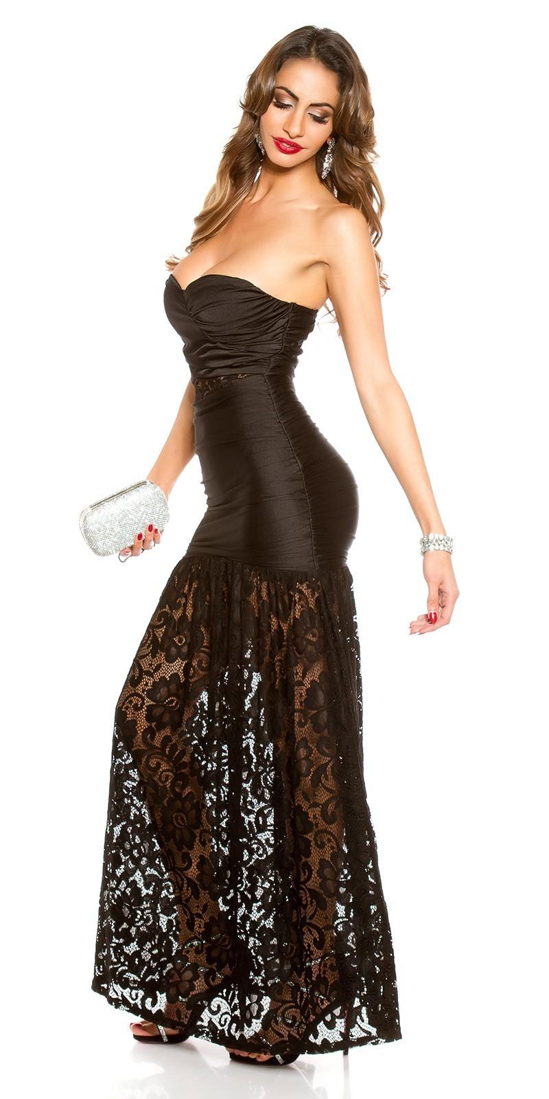 Dlhé šaty s čipkou KouCla Black – Sissy Boutique 483bcbb0e8d