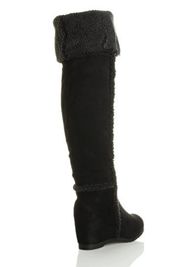 83eeb48d9409 Zimné čižmy na plnej platforme s kožušinkou Black – Sissy Boutique