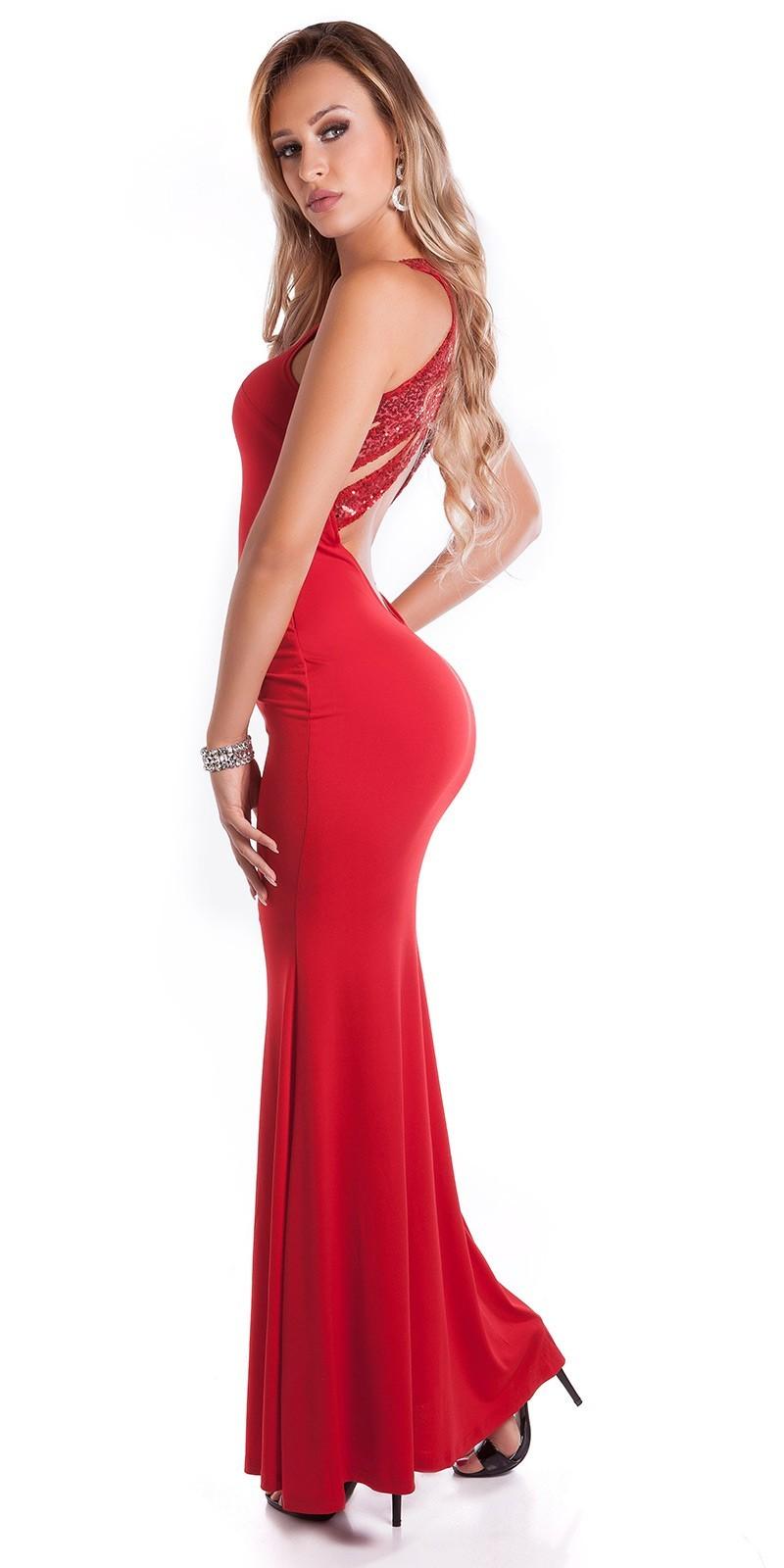 91b1ca73da45 Spoločenské šaty s holým chrbtom Red – Sissy Boutique