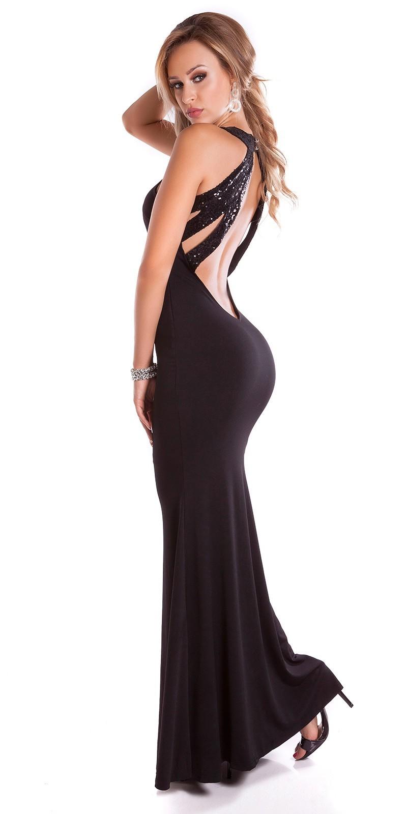 Spoločenské šaty s holým chrbtom Black – Sissy Boutique 95887b593ac