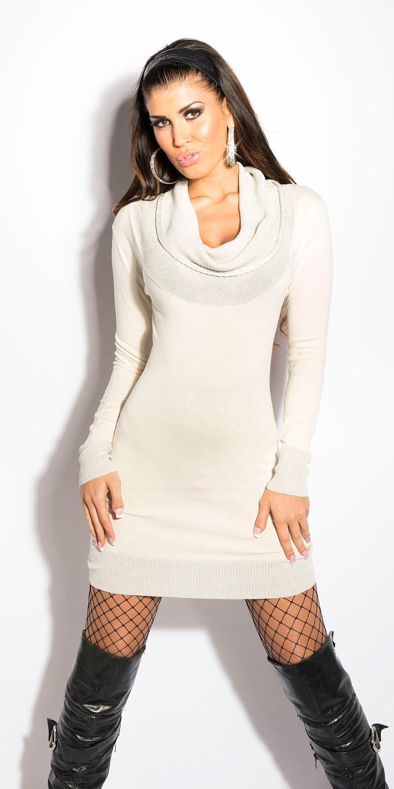 b03366948379 Pletené šaty s rolákom Cream – Sissy Boutique