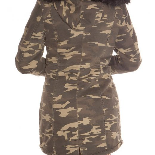 ae936a82685e7 Dámsky maskáčový kabát Black