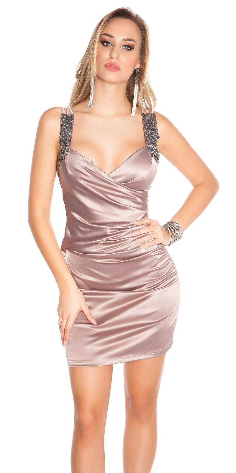 ... výpredajKoktailové šaty Satin-look Cappuccino. 4777-19356 38242b4089e
