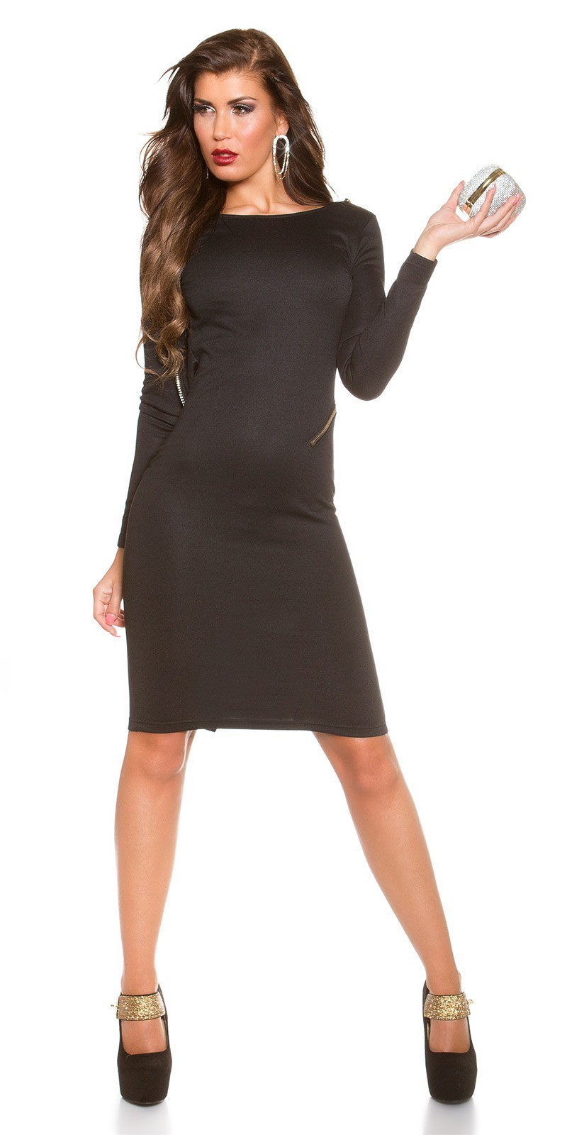 7651f994d98d Šaty s holým chrbtom KouCla Black – Sissy Boutique
