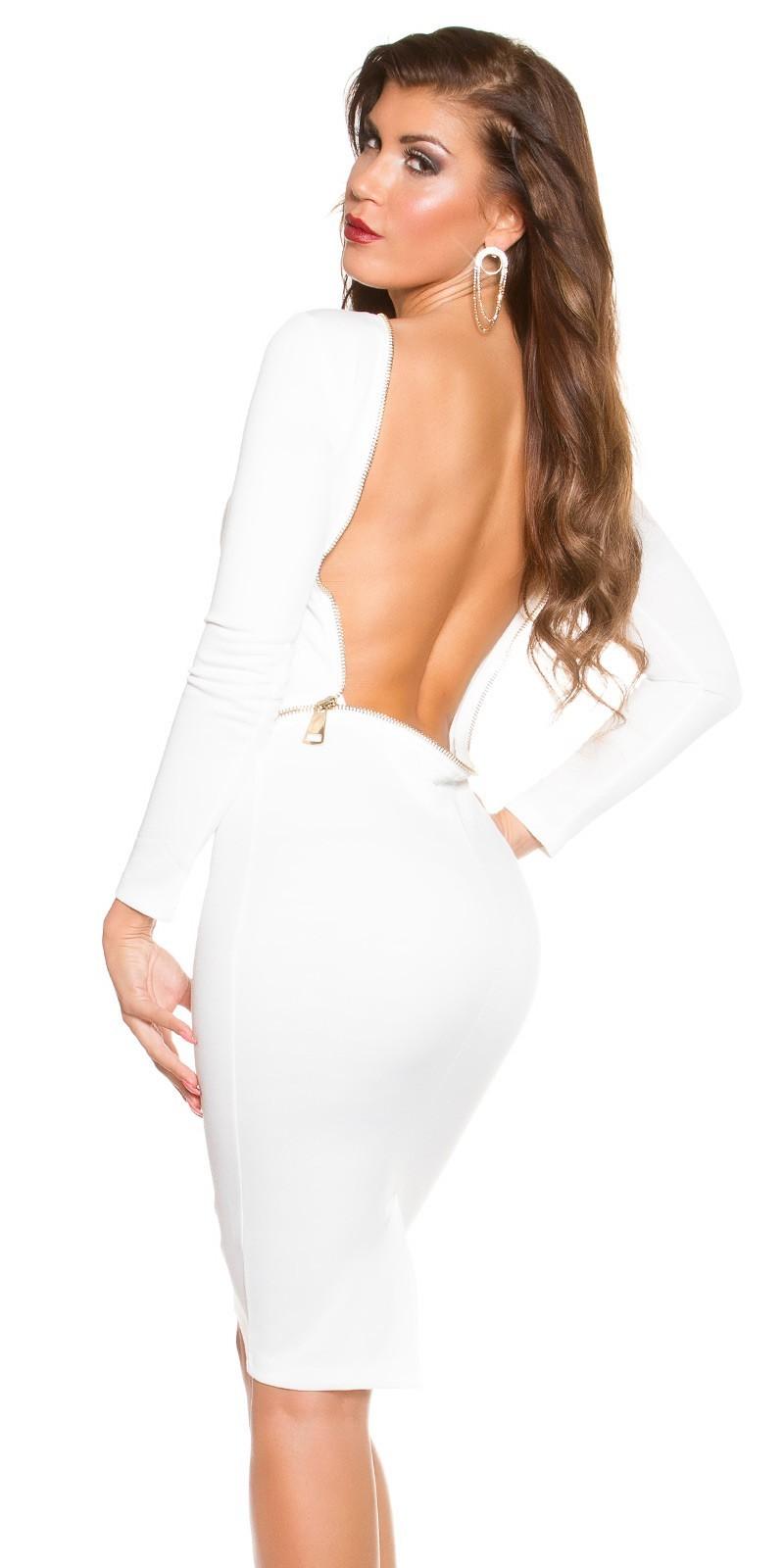 4ee3134672ea Šaty s holým chrbtom KouCla White – Sissy Boutique