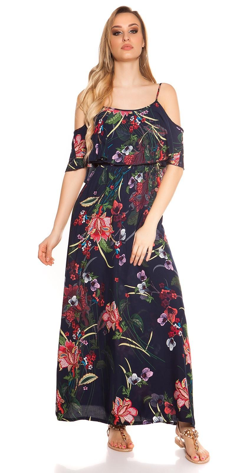 f8942a2ed537 Kvetované dlhé letné šaty Coachella-style Navy. 25.90 €. Výber  možnostíQuick View