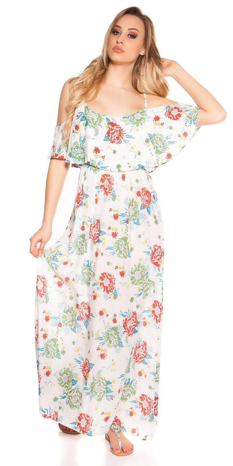 1c0d99fb209b Letné dlhé šaty na ramienka White – Sissy Boutique