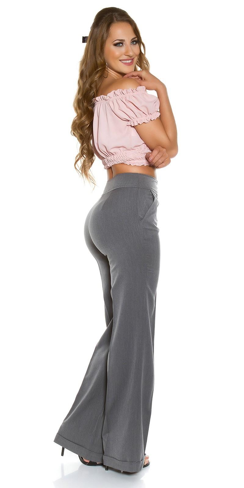 f5cdce4edbb6 Široké nohavice Marlene-dress pants KouCla Anthracite – Sissy Boutique