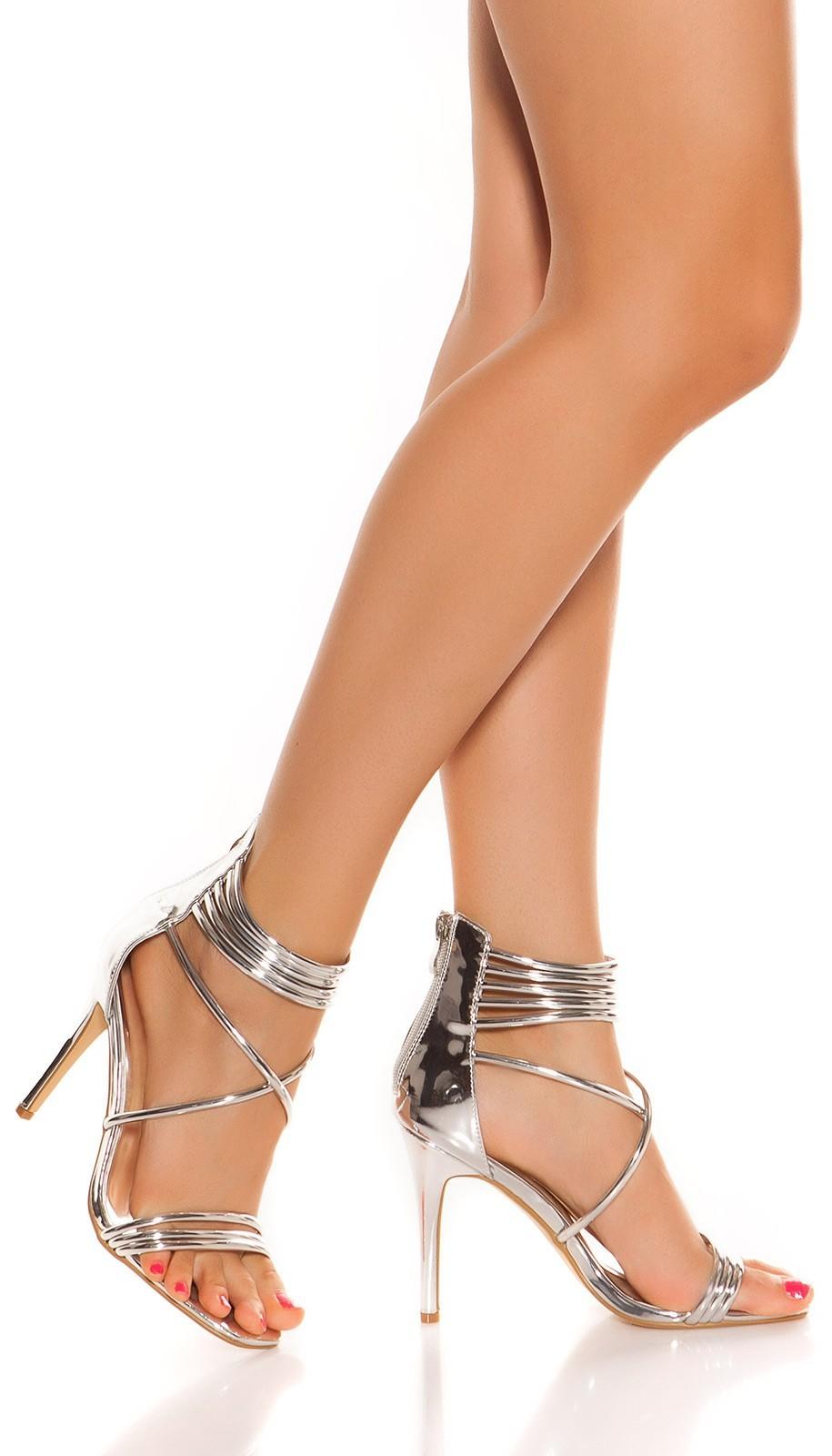 401b770d827f Sandále na vysokom podpätku Silver – Sissy Boutique