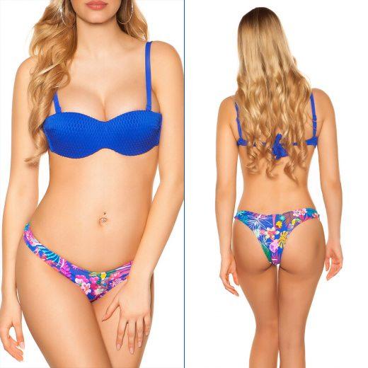 Dvojdielne plavky v královskej modrej farbe
