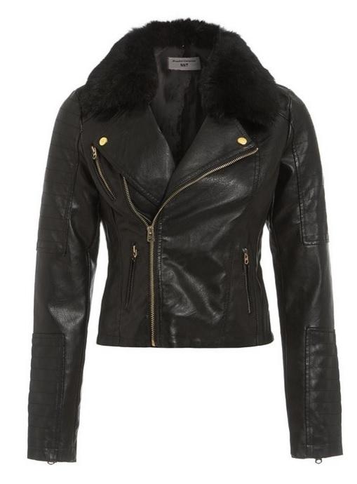 Cierna kozena bunda s kozusinou