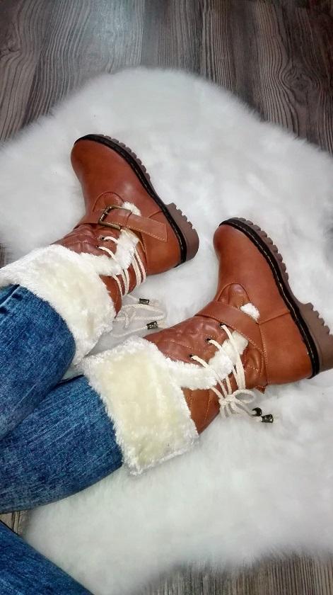 Zimne cizmy s kozusinou