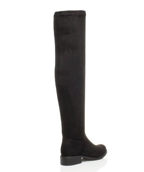 e6ab4e5b97f1 Čižmy nad kolená nízky podpätok Black Suede – Sissy Boutique