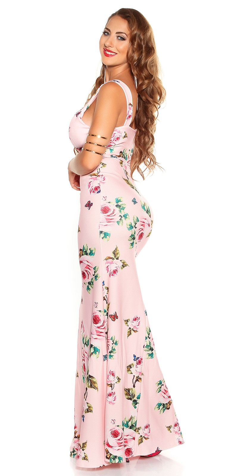 aaMaxidress with  Flower-Print  Color PINK Size Einheitsgroesse 0000K2855 ROSA 4 2c8282e50dd