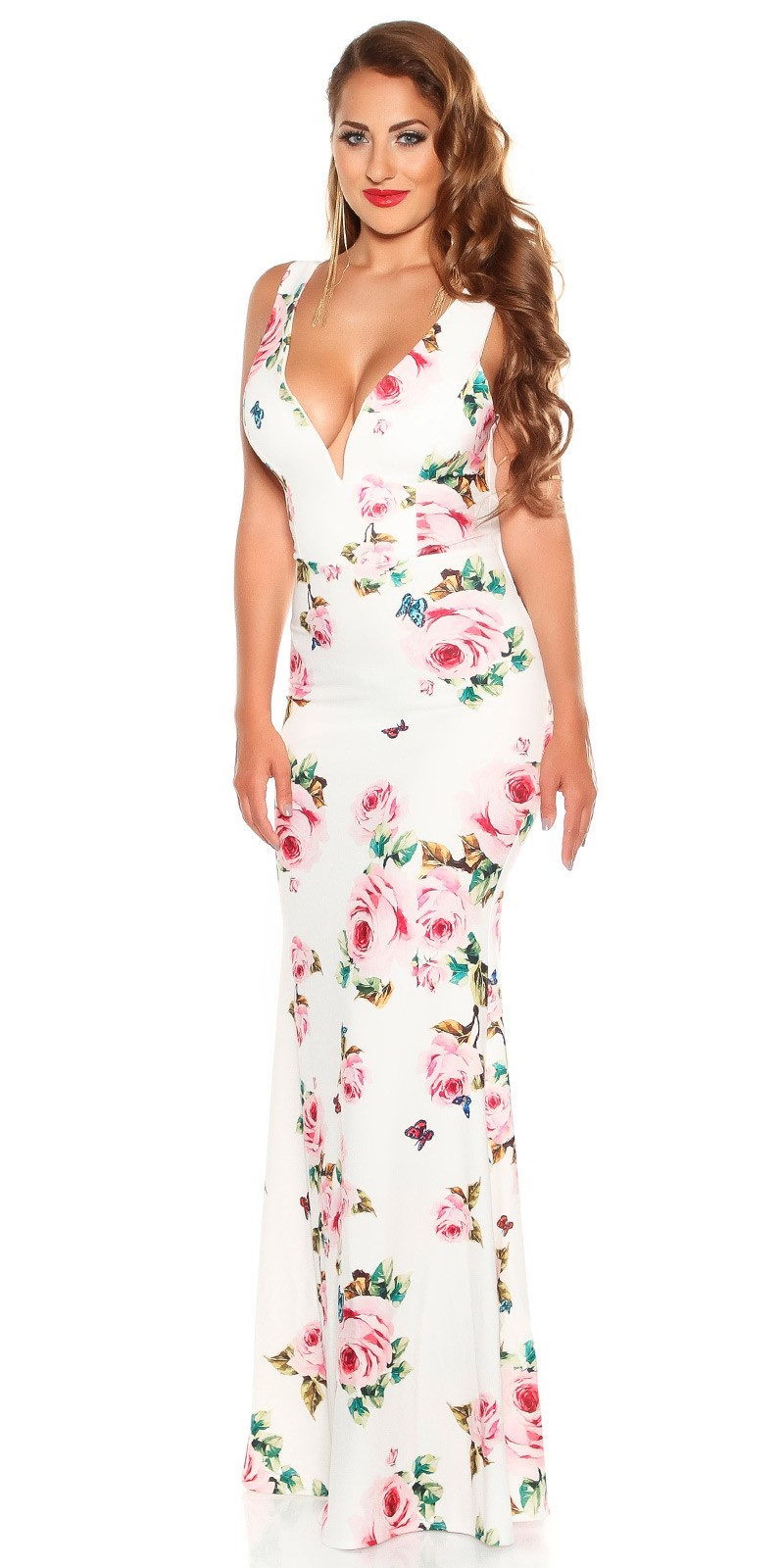 53ecce691687 aaMaxidress with  Flower-Print  Color WHITE Size Einheitsgroesse 0000K2855 WEISS 17