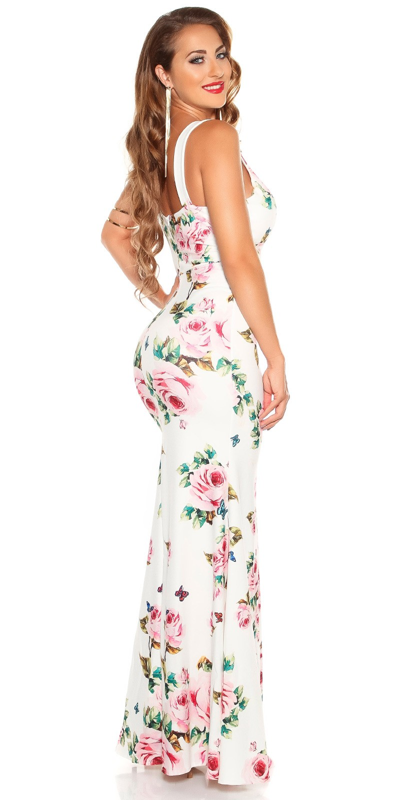 7b1d92e7b990 aaMaxidress with  Flower-Print  Color WHITE Size Einheitsgroesse 0000K2855 WEISS 18