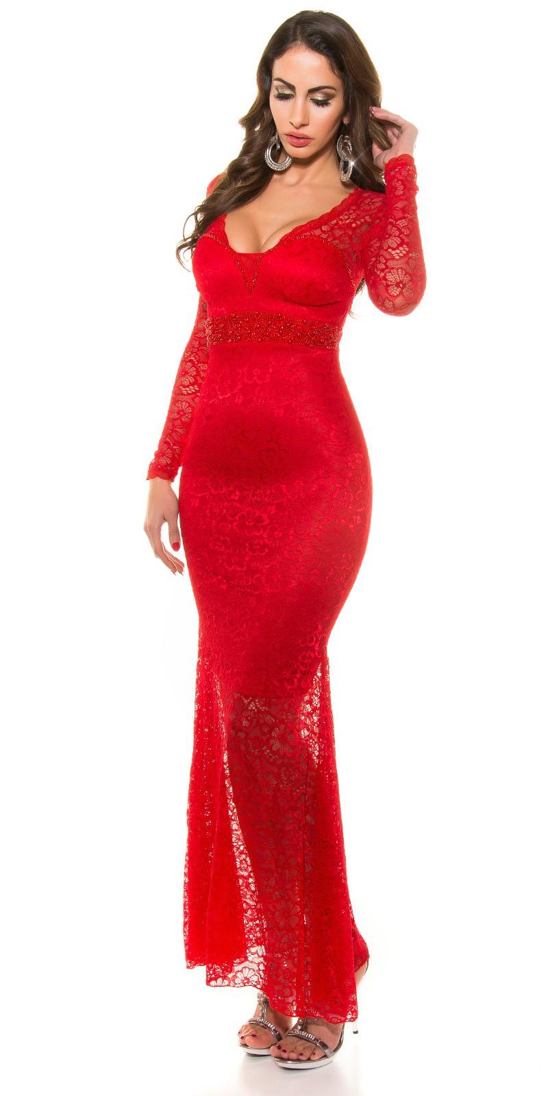 22933d44e8cc ooKoucla evening dress laces  Color RED Size S 0000K9149 ROT 3 · Cipkovane  dlhe spolocenske saty