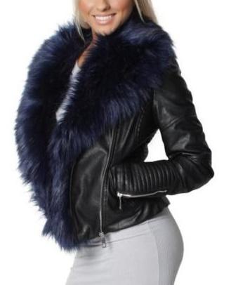 Kratka kozena bunda s kozusinou