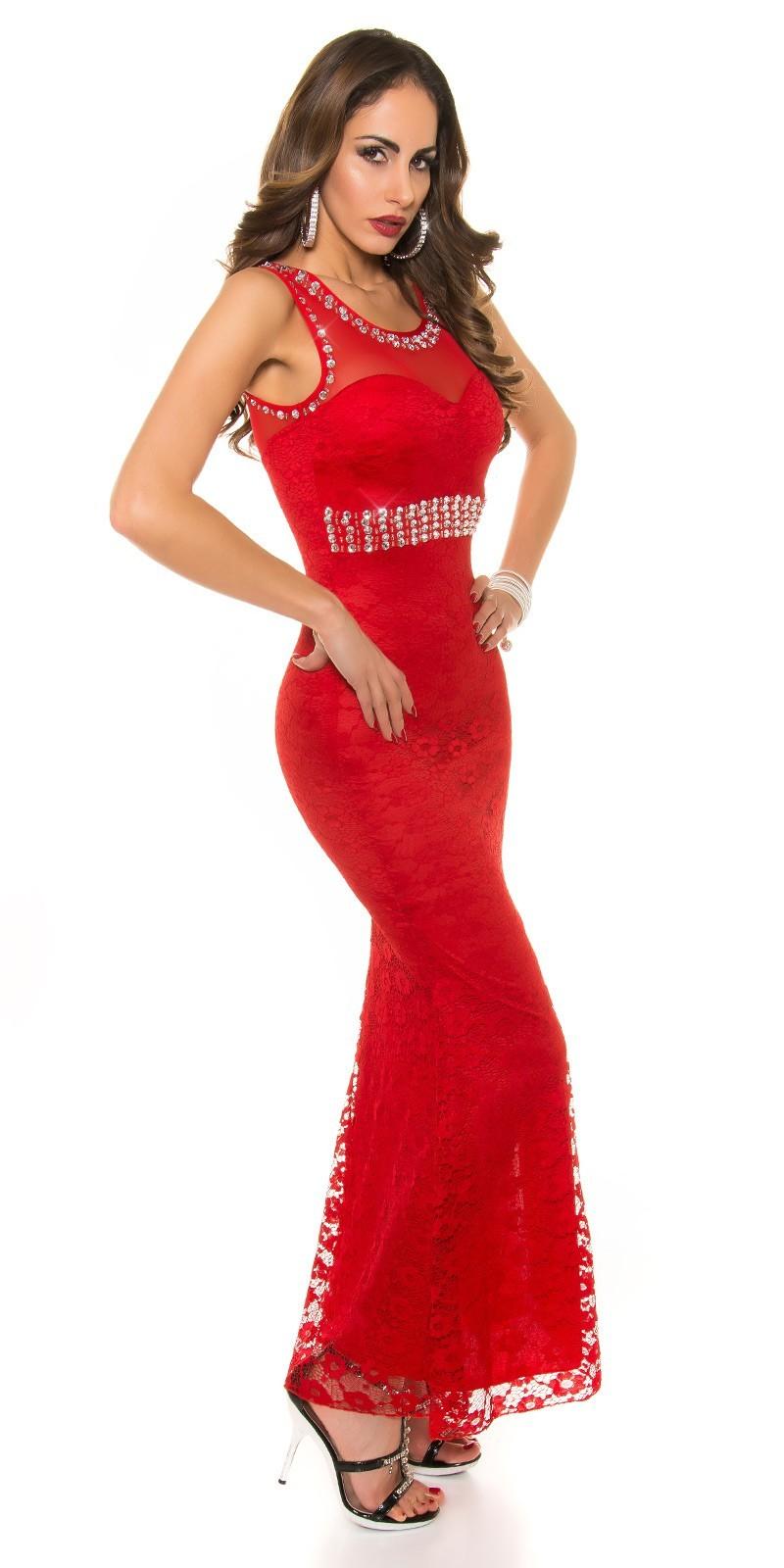 60592bf7662b Dlhé čipkované šaty KouCla Red – Sissy Boutique