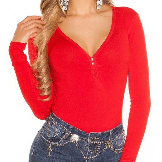 Polo sveter cerveny