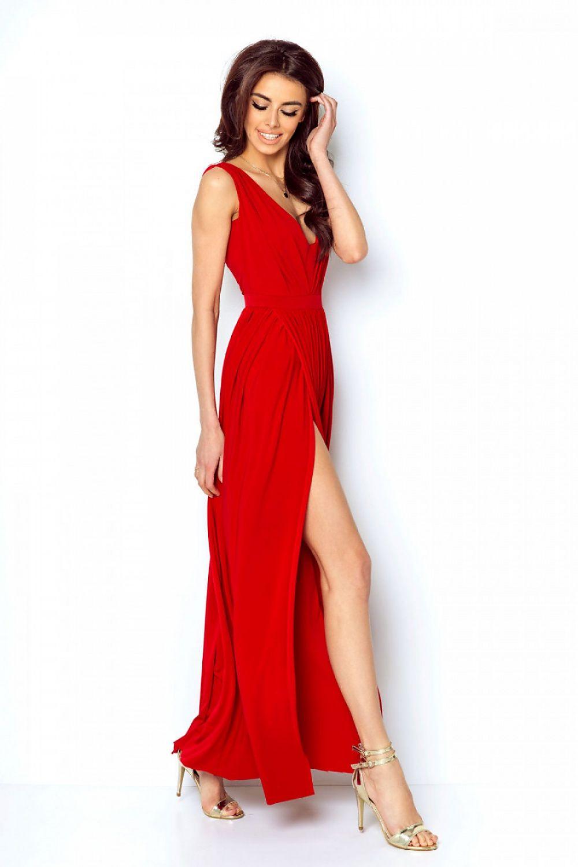 4317f7c73aca Dlhé spoločenské šaty s rozparkom Ivon Red – Sissy Boutique