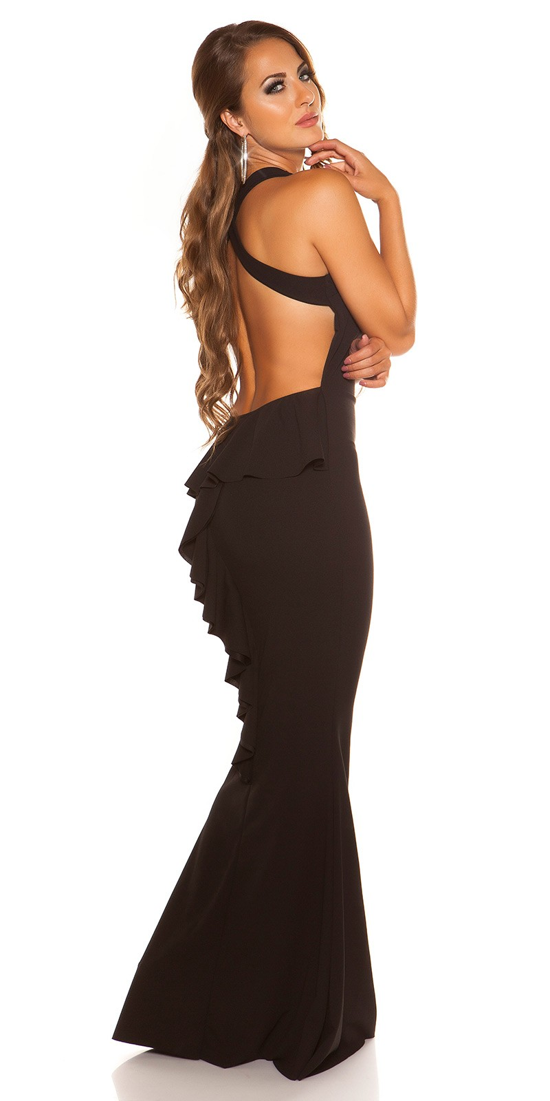 eeSexy evening gown backless  Color BLACK Size Einheitsgroesse 0000V2830 SCHWARZ 35.  Cierne dlhe saty s holym chrbtom 09eee1ece6b