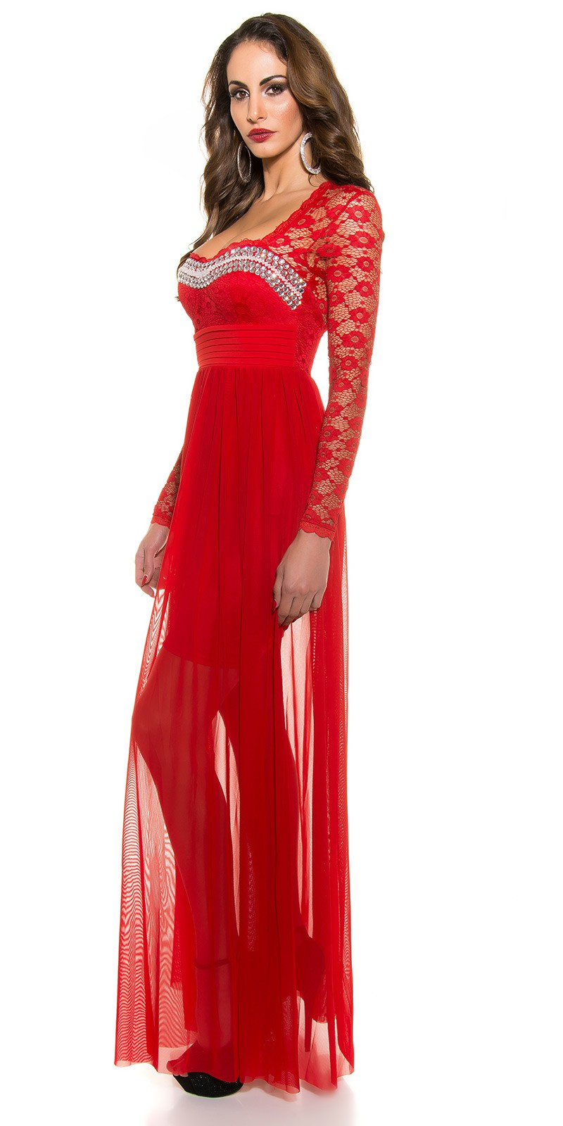 ooKoucla evening dress with lace  Color RED Size S 0000K9141 ROT 10.  ooKoucla evening dress with lace  Color RED Size S 0000K9141 ROT 11 838531395d8