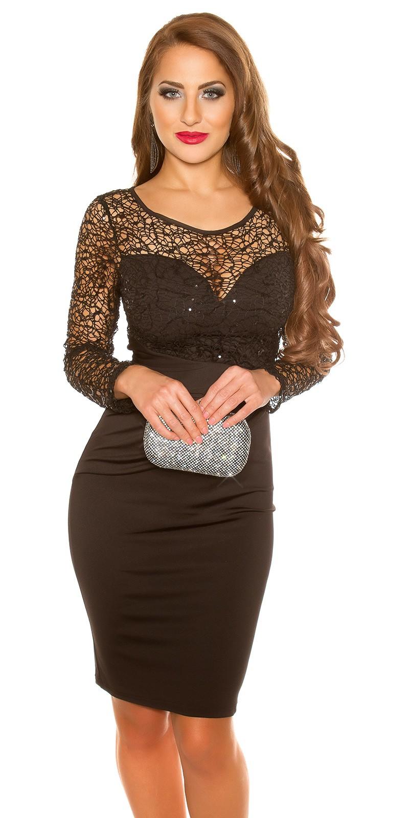 ookoucla partydress with lace  sequins  Color BLACK Size M 0000K19435 SCHWARZ 23 1.  Cierne spolocenske saty b7ec770261f